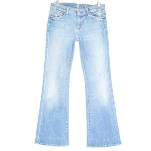 7 For All Mankind jeans 30 x 30 Flare destroyed US